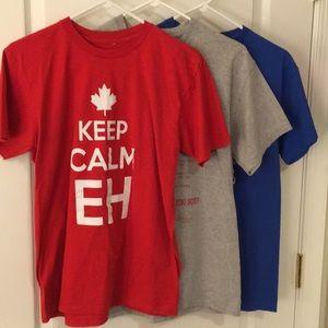 3 pack of cool Canada tshirts mens' medium